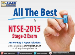 ntse stage 2 exam 2015 answer key