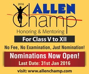 ALLEN Champ 2016 Nominations