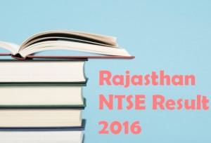 Rajashan NTSE 2016 Result