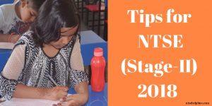 Tips for NTSE (Stage-II) 2018