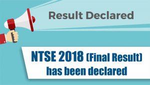 NTSE 2018 Final Result