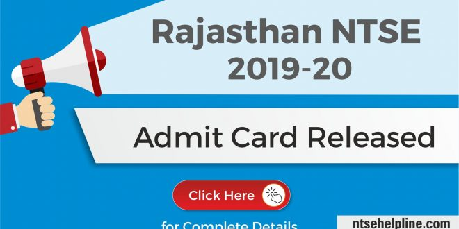 NTSE 2020 Admit Card released