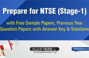 Free NTSE Sample Papers, Previous years paper, NTSE answer key