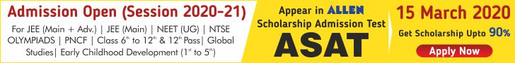Appear in ALLEN Scholarship Admission Test