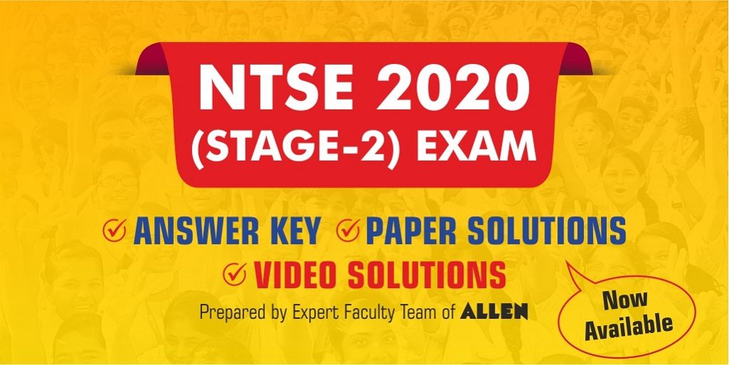 NTSE 2021 Stage 2 Answer Key and Paper Solutions by ALLEN Career Institute